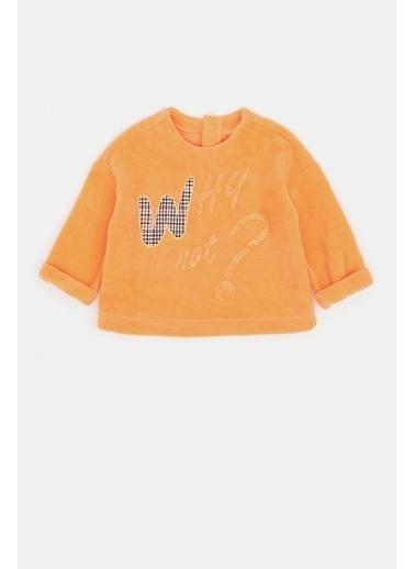 BG Baby Kız Bebek Neon Oranj S-Shirt 20Fw1Bg2435 Oranj